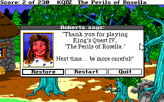 Huevo de Pascua Roberta Williams - Kings Quest IV