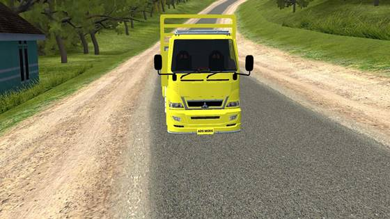 download mod bussid truck canter flatbed full animasi