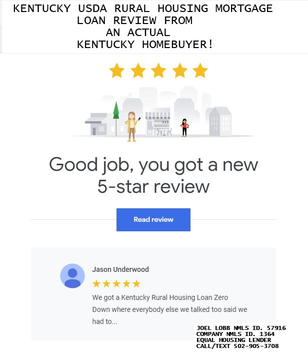 Kentucky USDA Mortgage Lender In Kentucky