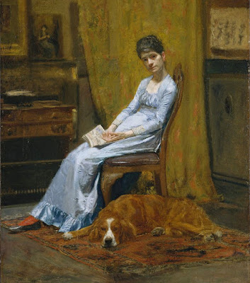 Thomas Eakins: Żona artysty i jej pies