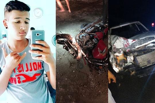 Jovem morre em acidente entre moto e carro na BA-120, que liga Cansanção a Monte Santo