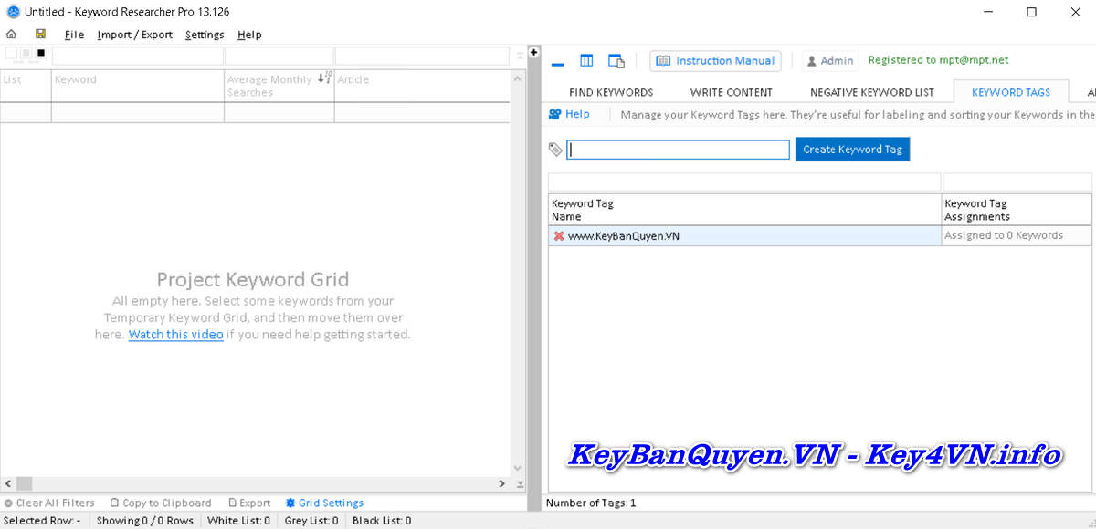 Download và cài đặt Keyword Researcher Pro 13.126 Full Key, Siêu ứng dụng phân tích Seo Website.