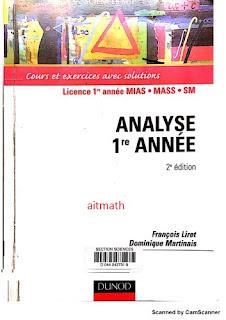 télécharger livre en pdf::::::::::Analyse première année - Cours et exercices avec solutions