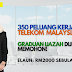 350 Peluang Kerjaya di Telekom Malaysia Berhad kini dibuka! Elaun sebanyak RM2000 sebulan.