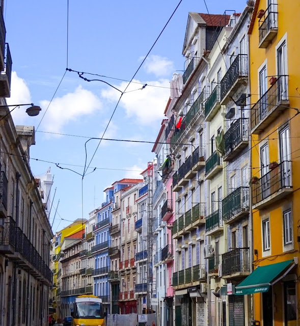 Lisbon Colourful Buildings
