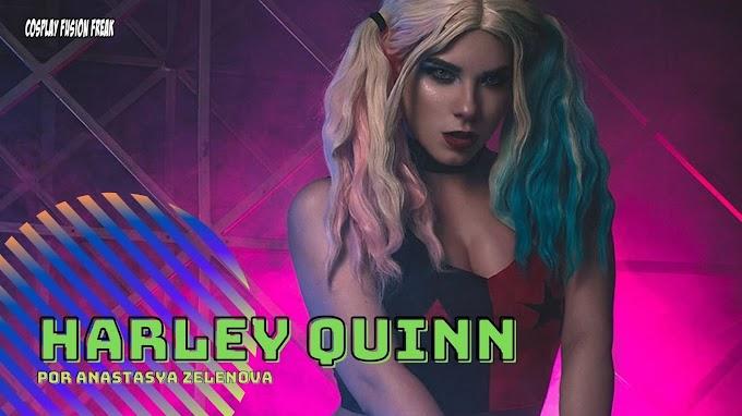 Anastasia Zelenova con su version acróbata de Harley Quinn