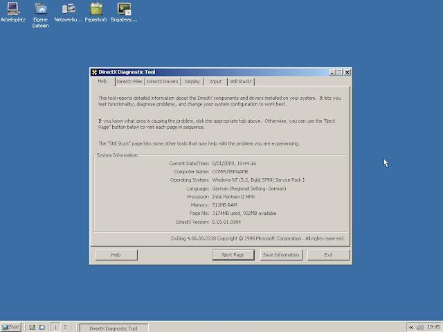 El escritorio de ReactOS recuerda mucho a Windows XP