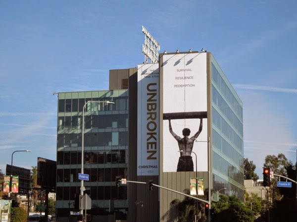 Giant Unbroken movie billboard