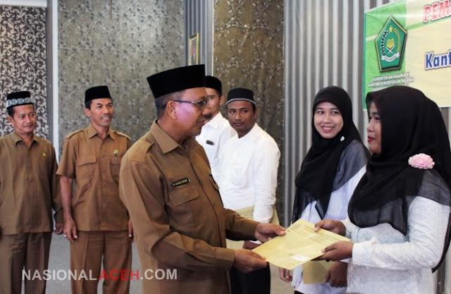 Hari Ini, 111 CPNS Kemenag Aceh Terima SK di Kabupaten Aceh Barat