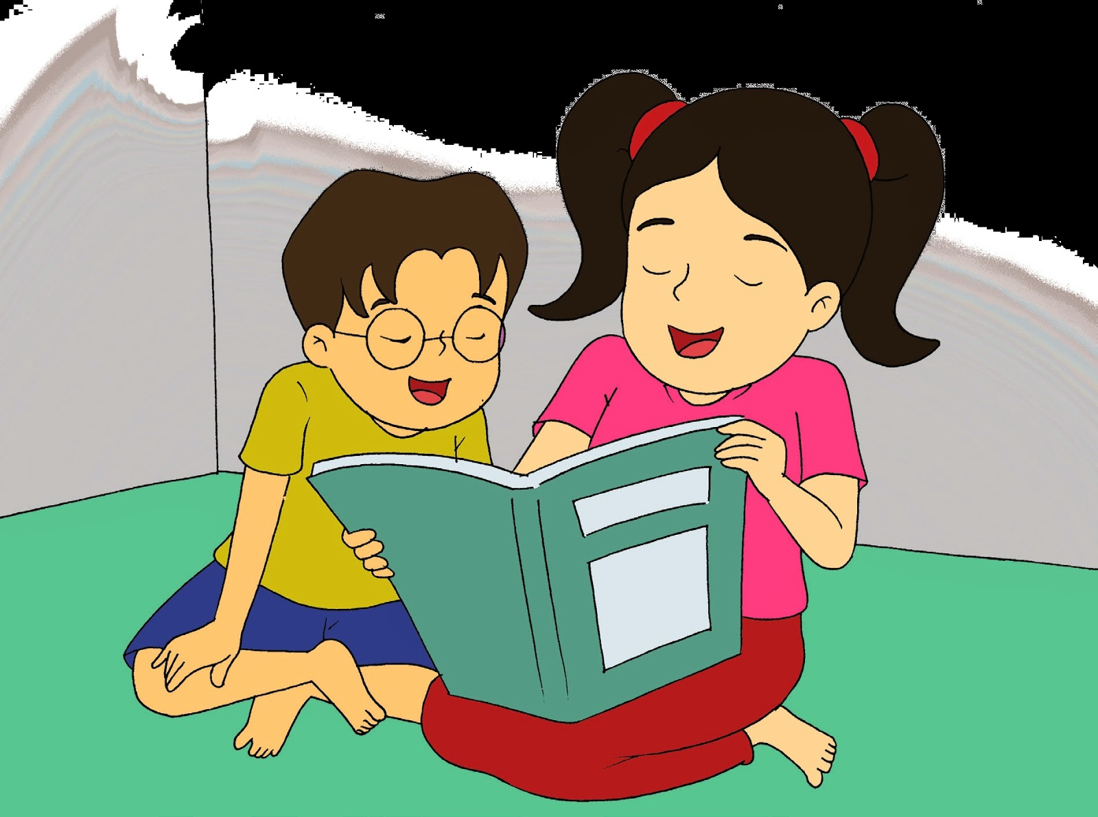 Beautiful Gambar Kartun Anak Belajar Di Rumah Verimli Ders Al Ma Y