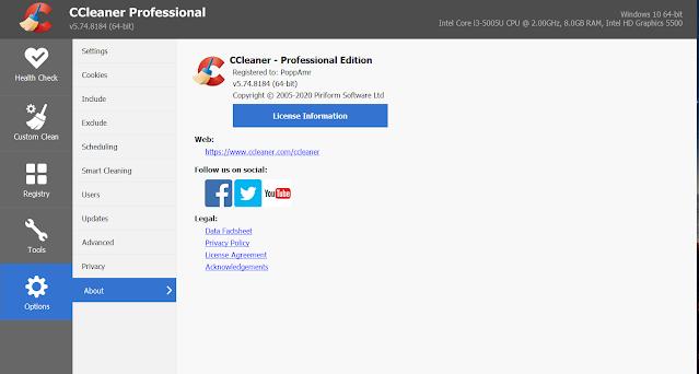 CCleaner Professional 5.74.8184 + Key