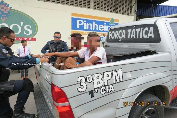 Dupla praticava assalto e quase foram linchados pela população na cidade de Sobral