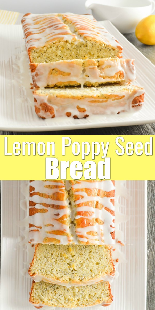 Lemon Poppy Seed Bread recipe is a favorite quick bread recipe for breakfast or dessert with a delicious light lemon crumb from Serena Bakes Simply From Scratch.