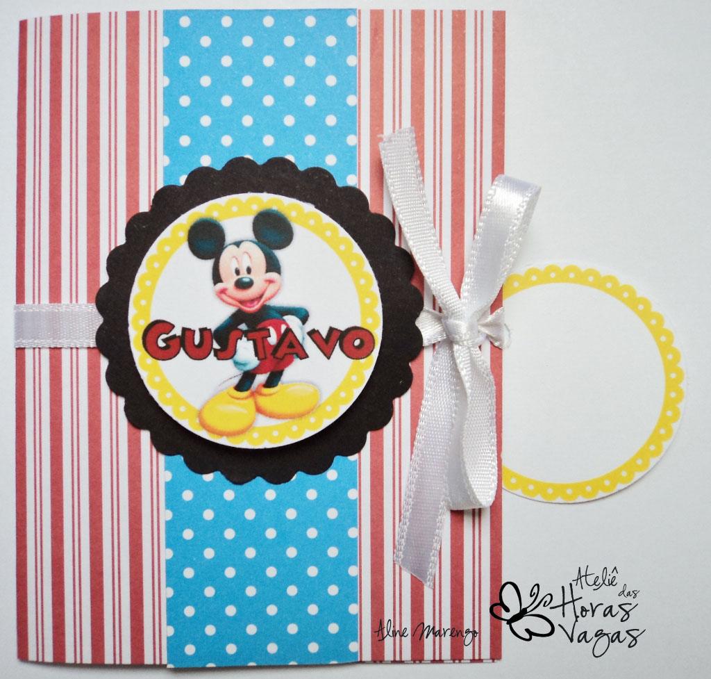 convite artesanal aniversário infantil mickey mouse vermelho azul amarelo 1 aninho bebê festa mickey