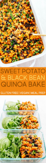 Sweet Potato & Black Bean Quínoa Bake