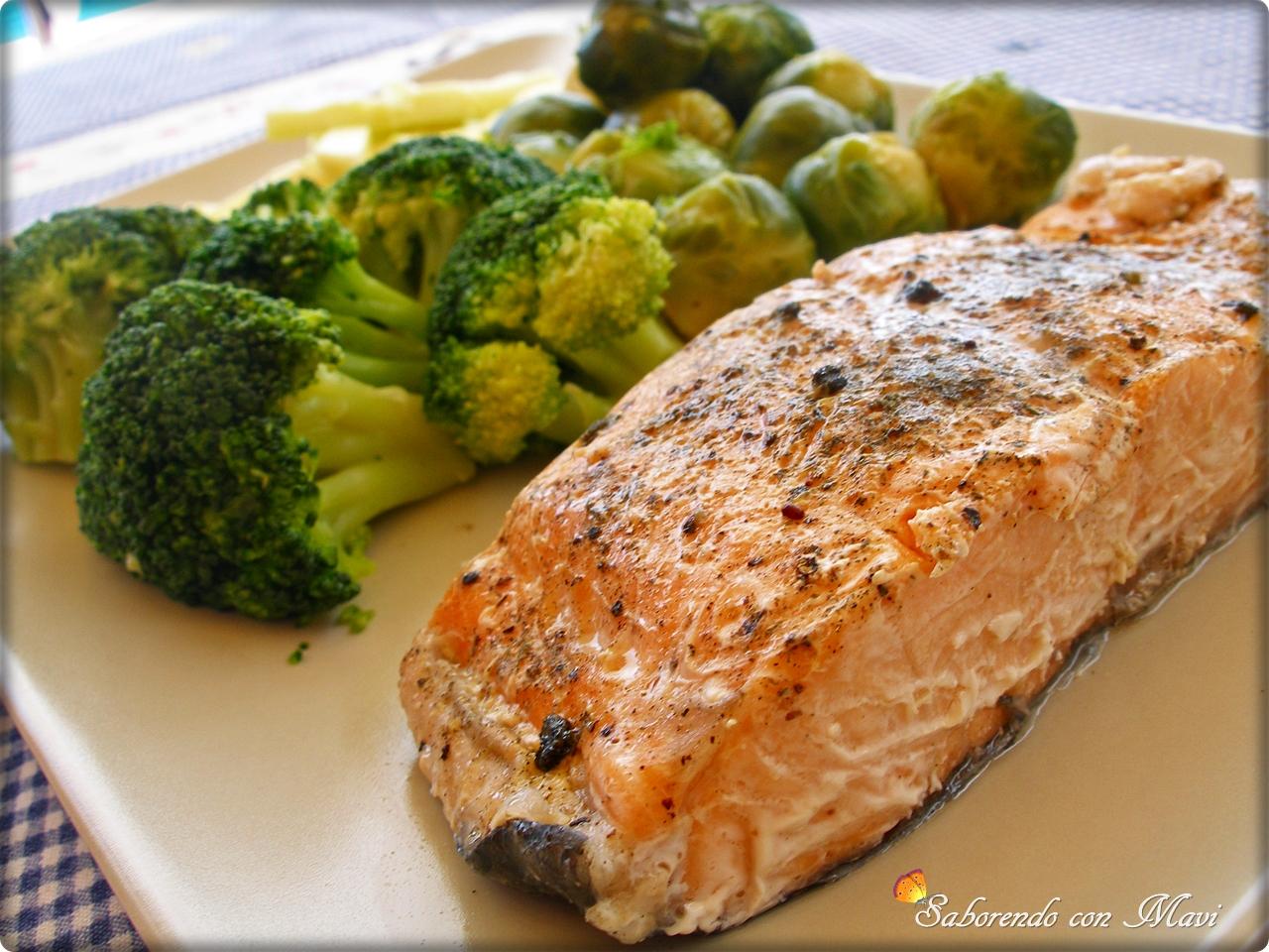 Saboreando con mavi salm n al vapor con verduras for Que cocinar con verduras