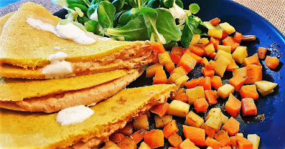 Omelette vegan à la farine de pois chiche/sans oeuf