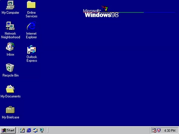 Tampilan Windows 98 | Gaptogeek