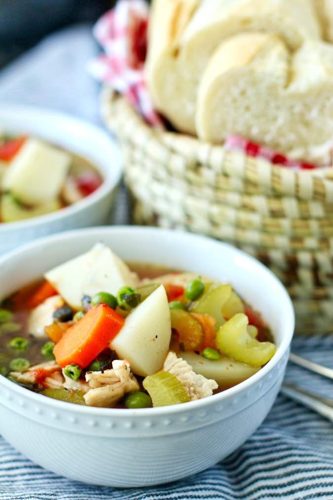 Homemade Turkey Soup with veggies