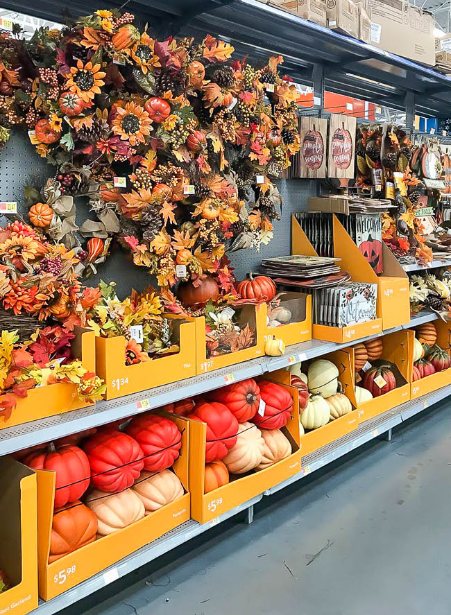 Fall decor from walmart