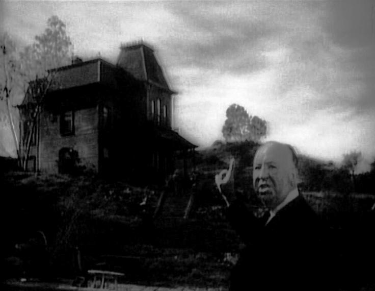 Alfred Hitchcock presentando Psycho