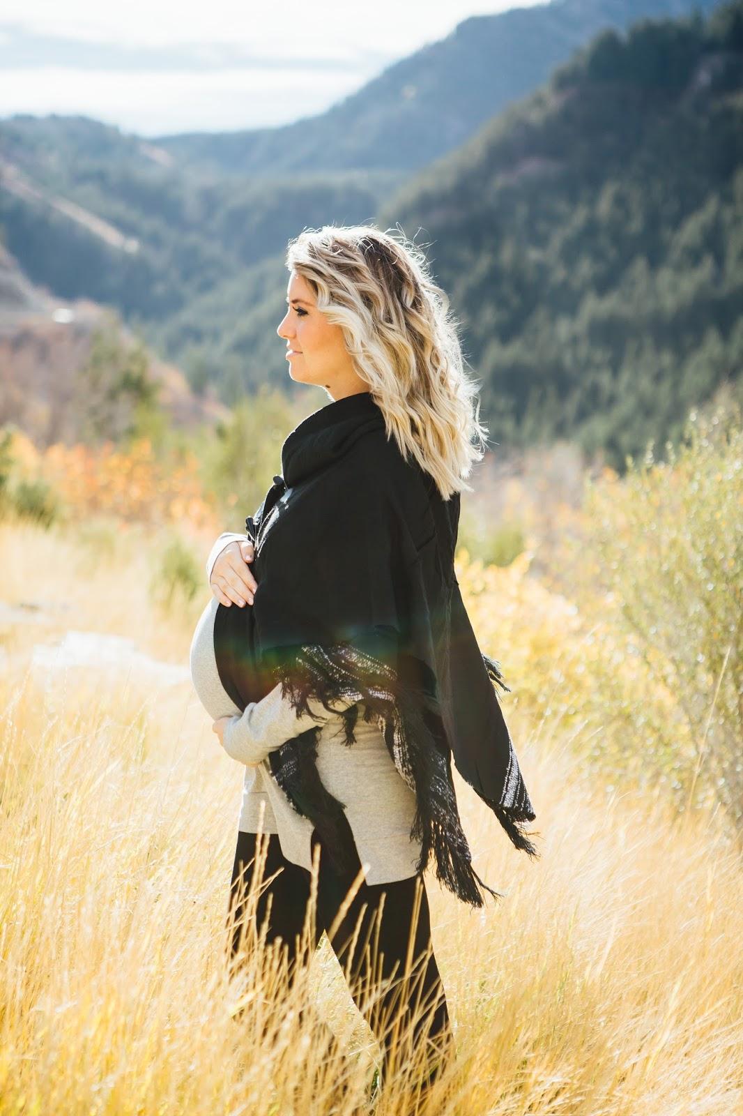 Poncho, TJ Maxx, Pregnant Outfit