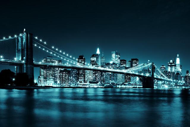 Kaupunki tapetti New York Valokuvatapetti maisematapetti Brooklyn Bridge