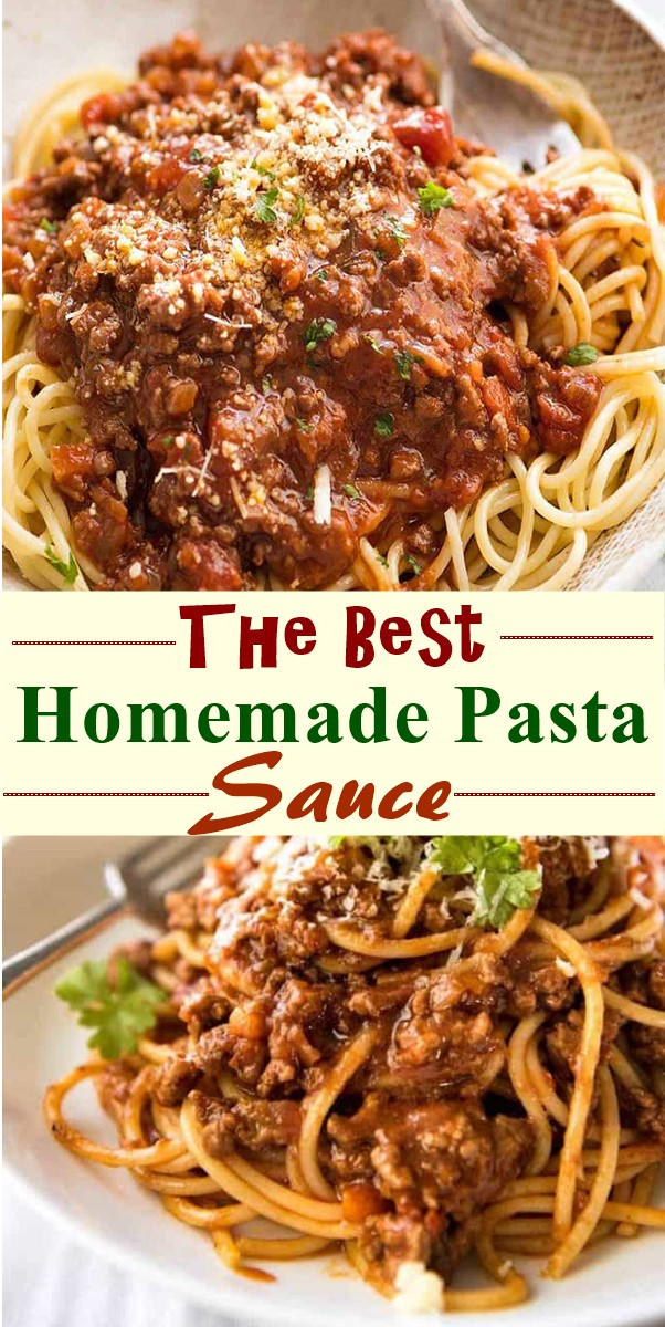 The Best Homemade Pasta Sauce #pastarecipes