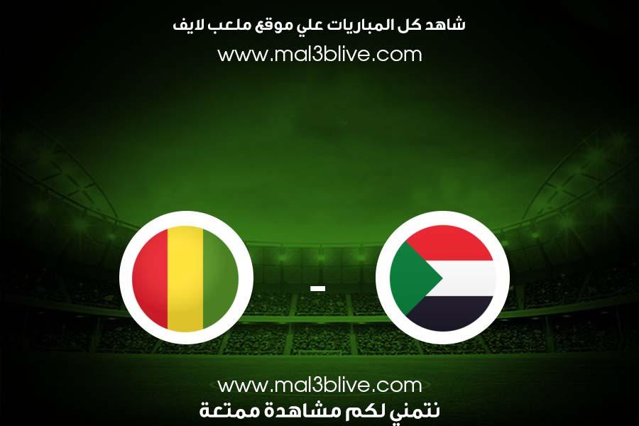 مباراة السودان وغينيا