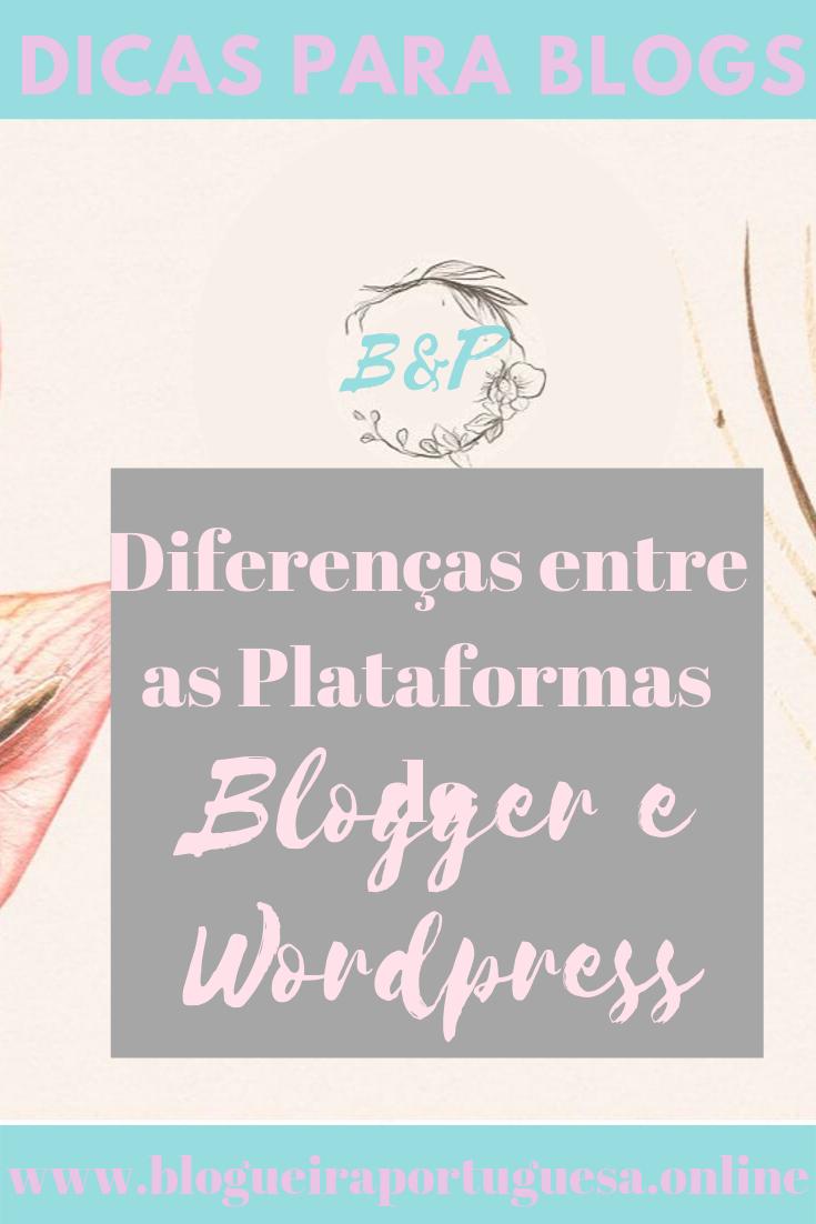 Diferenças entre Blogger e Wordprees (ALT)