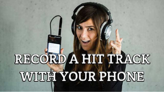 How to record a song using a smart phone.