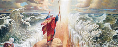 Moses parts the Red Sea