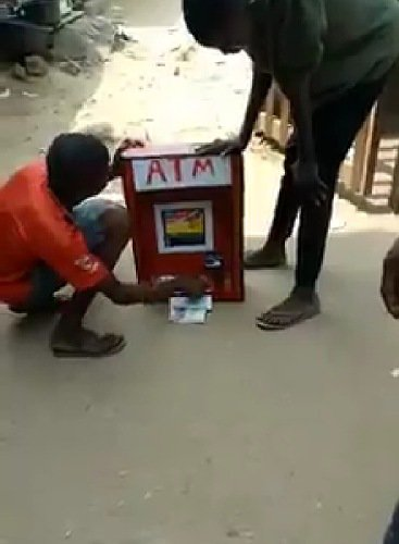 Talented Boy Manufactures ATM That Dispenses Cash In Imo State (Video)