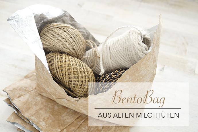 Bento Bag aus Milchtüten