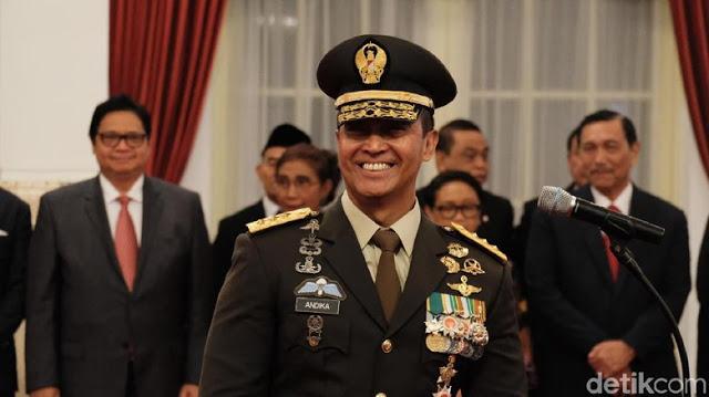 Jadi KSAD, Andika Perkasa Naik Pangkat Jadi Jenderal
