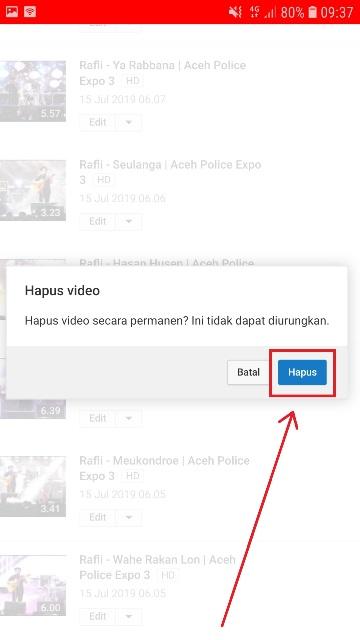 Cara Menghapus Video Di Youtube Lewat Hp Musdeoranje Net