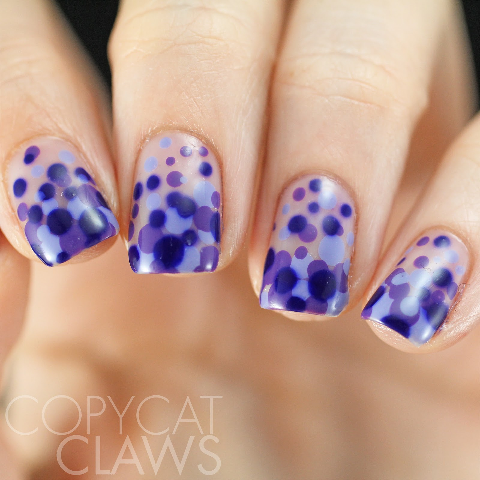 Copycat Claws: 40 Great Nail Art Ideas - 3 Shades of Purple