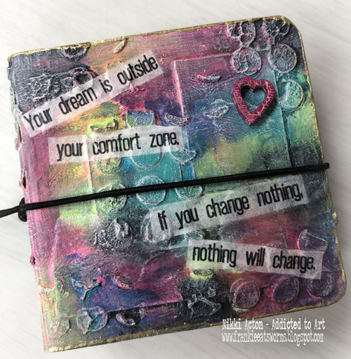 Tando Creative Mini Books by Nikki Acton using Dina Wakley Media Acrylics