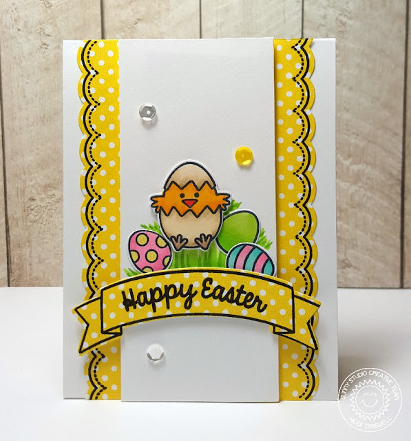 Sunny Studio Stamps:  Sunny Borders and A Good Egg Happy Easter Card by Heidi Criswell.