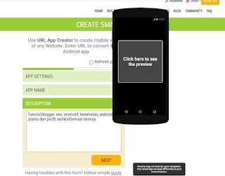 Tambahkan deskripsi aplikasi website