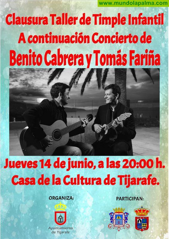 Finaliza el taller de timple infantil con la actuación de Benito Cabrera y Tomás Fariña