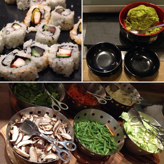 Japanese food station at Flavors Restaurant in Holiday Inn Makati