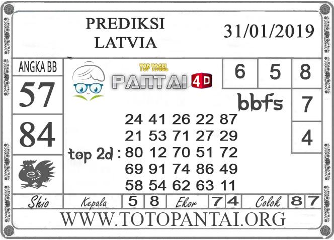 """Prediksi Togel """"LATVIA"""" PANTAI4D 31 JANUARI 2019"""