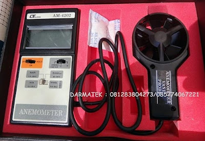 Jual Lutron AM-4202 Vane Type, Hot Wire Type Anemometer With Temperature