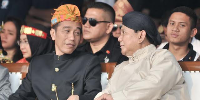 SMRC: Elektabilitas Jokowi naik jadi 60%, Prabowo turun jadi 28%