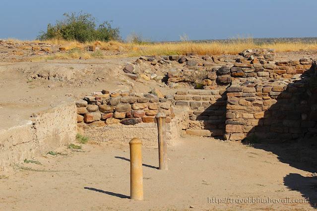Dholavira UNESCO Polished Stone pillars