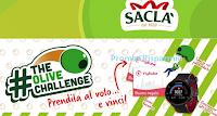 Logo Saclà ''TheOliveChallenge'': vinci gratis forniture, Smartwatch Garmin e non solo