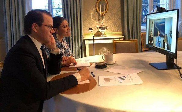 King Carl Gustaf, Queen Silvia, Crown Princess Victoria and Prince Daniel attended meeting of presentation of 2020 Nobel Laureates. By Malina