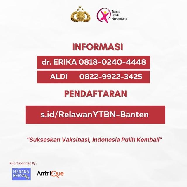Loker Relawan Vaksin COVID-19 Domisili Tangerang