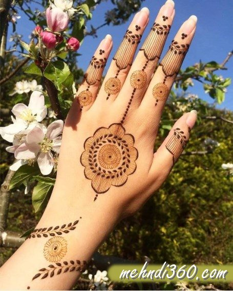 Beautiful Mehndi Designs for Back Hand